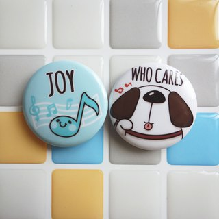Pin Magnet Two in One Small Badge 5 - Joy / (1 serving 2 in)
