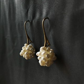 Tempered Pearl Ball Earrings