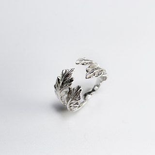 zo.craft Feather Ring / 925 Silver