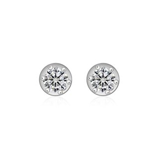 Single Diamond Stud Earring With Six Claw Setting