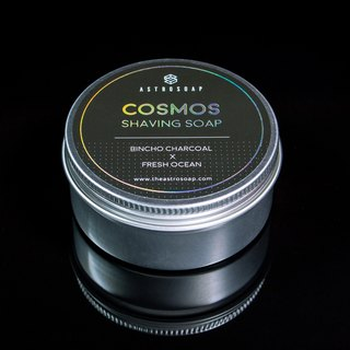 Cosmos Shaving Soap - Bincho Charcoal × Fresh Ocean