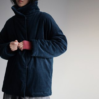 Peacock blue thinsulate cotton-padded jacket