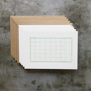 Letterpress Short Short Card / Manuscript (5 copies in)