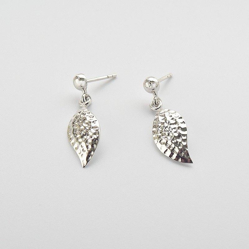 【小巧葉子】 925純銀 手工 耳環