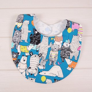 Bibs Bib - fairy Bear (blue)