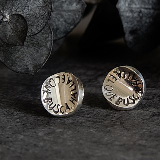 Message earring / silver