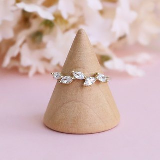 Japanese handmade ornaments - leaf crystal ring