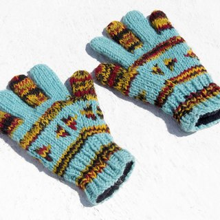 Christmas Gifts Christmas Gifts Exchange Gifts Limited A Knit Pure Wool Warmer Gloves / Knit Gloves / Full Finger Gloves - Nordic Wind Gradient Geometric Totem
