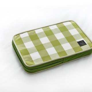 Lifeapp Sleeping Pad Replacement Cloth --- XS_W45xD30xH5cm (Green White) does not contain sleeping mats