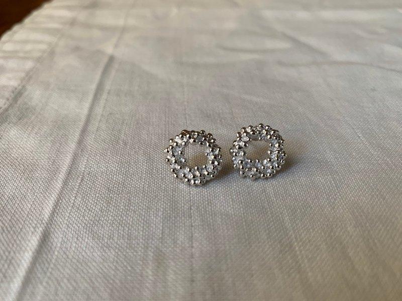 聖誕花環耳環