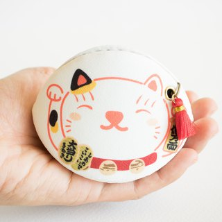 Beckoning cat coin purse. (lucky charm, talisman) Bring Good luck to owner.