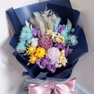 Customized Exclusive Order - Blue Purple Bouquet For Dear