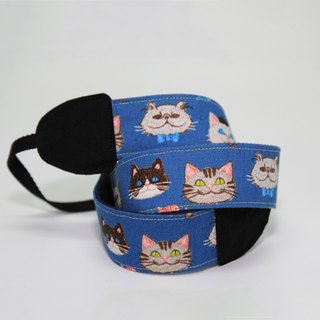 Pu.sozo cloth hand made cat party gemstone necklace bow tie hat two pattern camera strap /