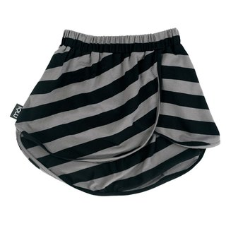 Nordic organic cotton children's asymmetric round skirt stripes sk1 stripes