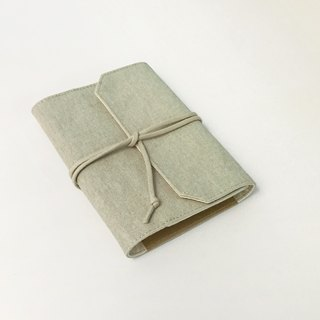 A6 strap type cloth book clothing__light grass ash__*can be washed*a pen plug * a pocket