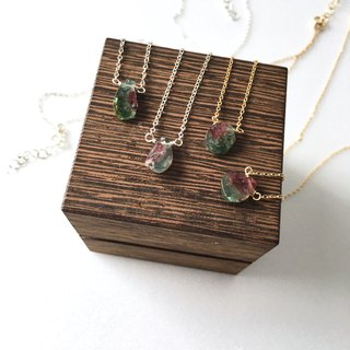 Water melon Tourmaline Necklace 14 kgf SV 925