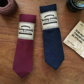Neck Tie Red | Deep Navy Blue
