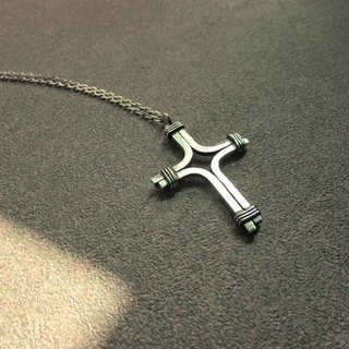 Cross d necklace_cross d necklace 925 sterling silver limited designer hand made