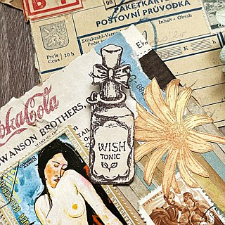 Hand- drawn stamp Wish Tonic