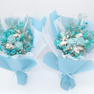 Amor Floral - Blue Bubble Gum Dry Bouquet / Valentine's Day Bouquet Tanabata Father's Day