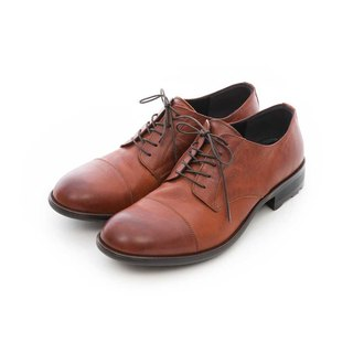 ARGIS increased design horizontal derby shoes #41216 caramel color - Japanese handmade