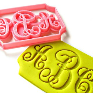 Custom Three Letters Monogram Cookie Cutter, Personalized with Your Initials