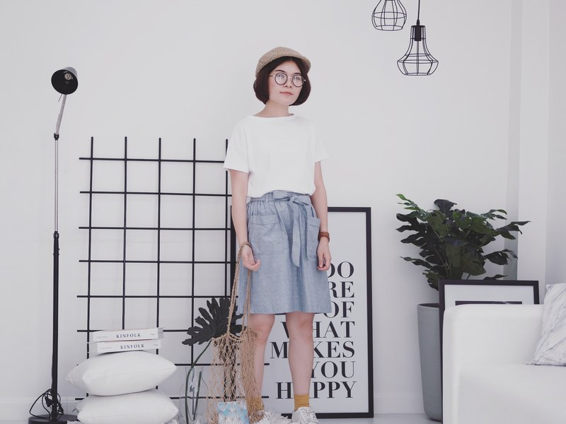 Butter B. Skirt : Light Grey