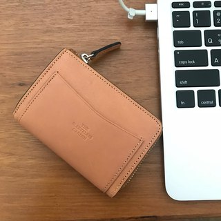 Coin zip purse /Tan