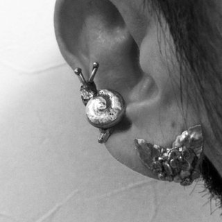 Snails and hydrangea earrings