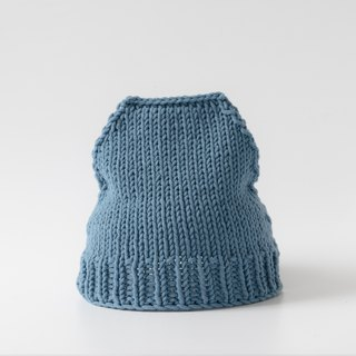 OTB105 ladder type hand-knitted cap - blue gray