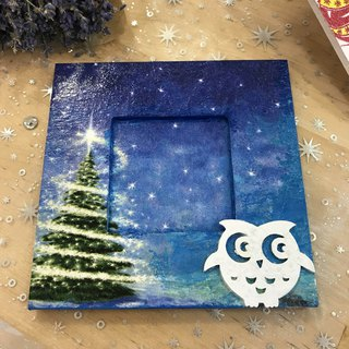[Christmas limited] snowy Christmas photo frame