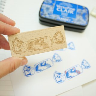 White Rabbit Milky Candy Rubber Stamp