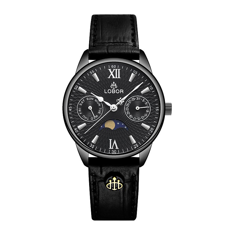 Meridian Aphelion 33mm Multifunction Watch Leather Strap