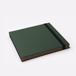 Three summer light years classic solid color strap books section DIY album creative gifts large square (dark green)