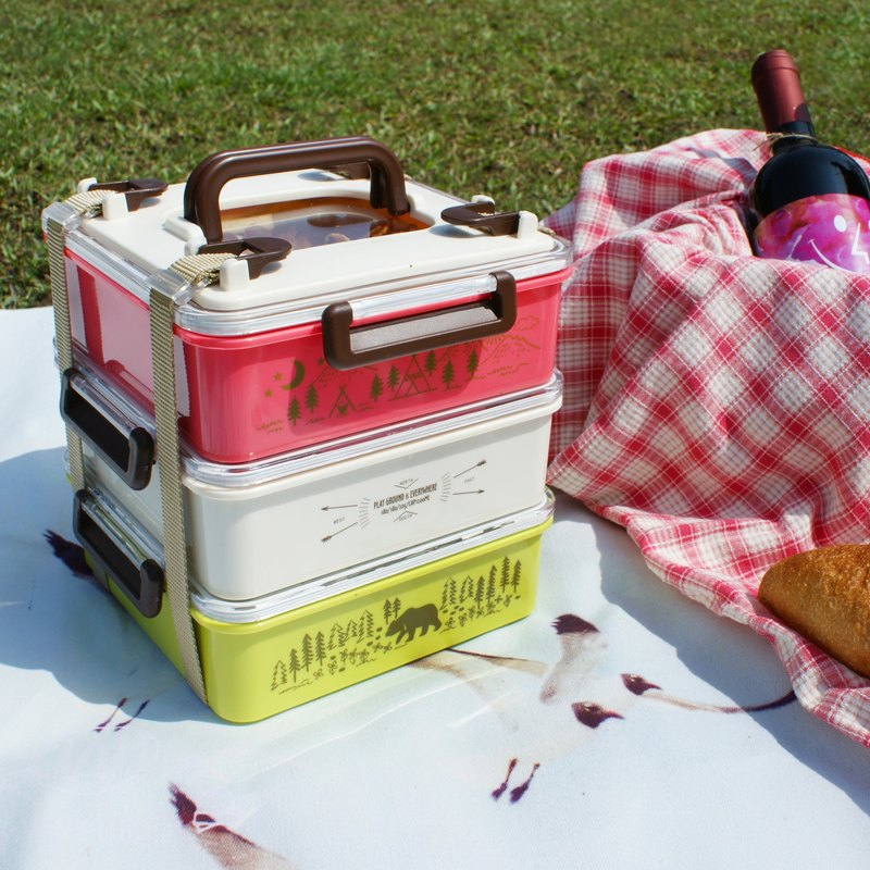 [DESTINO STYLE] Japan Forest Department Three-tier Combination Picnic Box