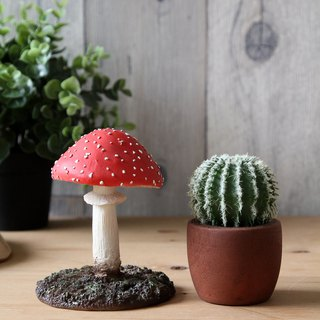Japan Magnets super fun stationery imaginary paper clip storage red umbrella mushroom (Amanita muscaria)