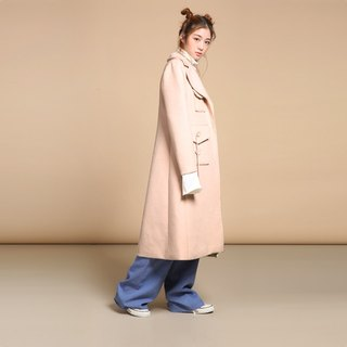 Nude Pink Wool Coat