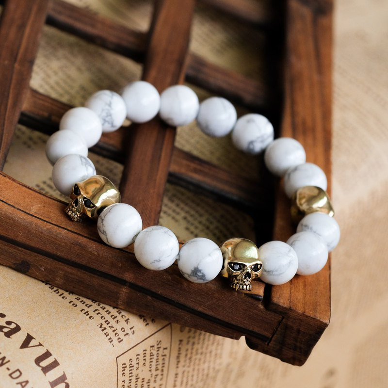 Natural stone bead bracelet pure brass jewelry