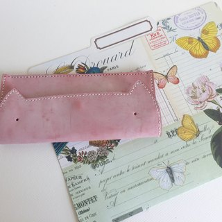 Wipe Wax Powder Cat Style Long Clip _ Leather Hand Sewing Handcraft Wallet