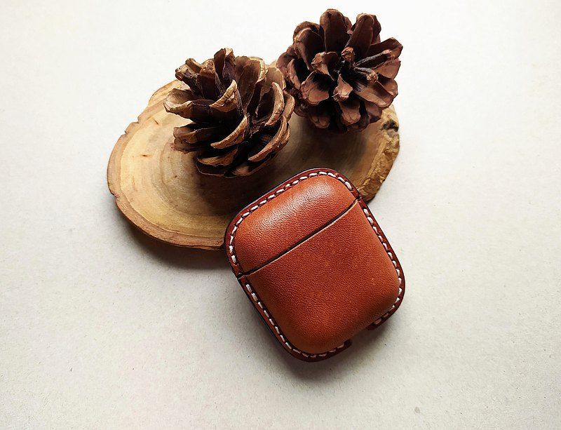Airpods 手工皮革塑型 植鞣皮革保護套 蘋果耳機保護套