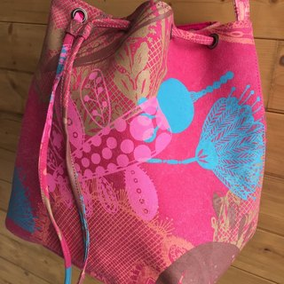 Bucket bag handmade serigraphy