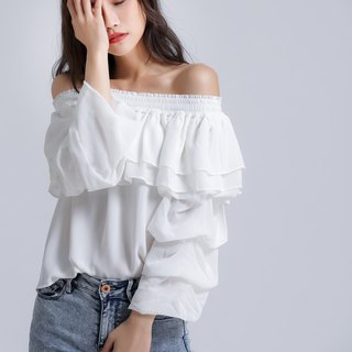 Emily White Ruffle Top