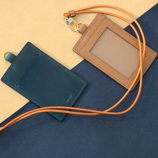 BF ID Holder with strap | Leather | Cardholder | Handcrafted