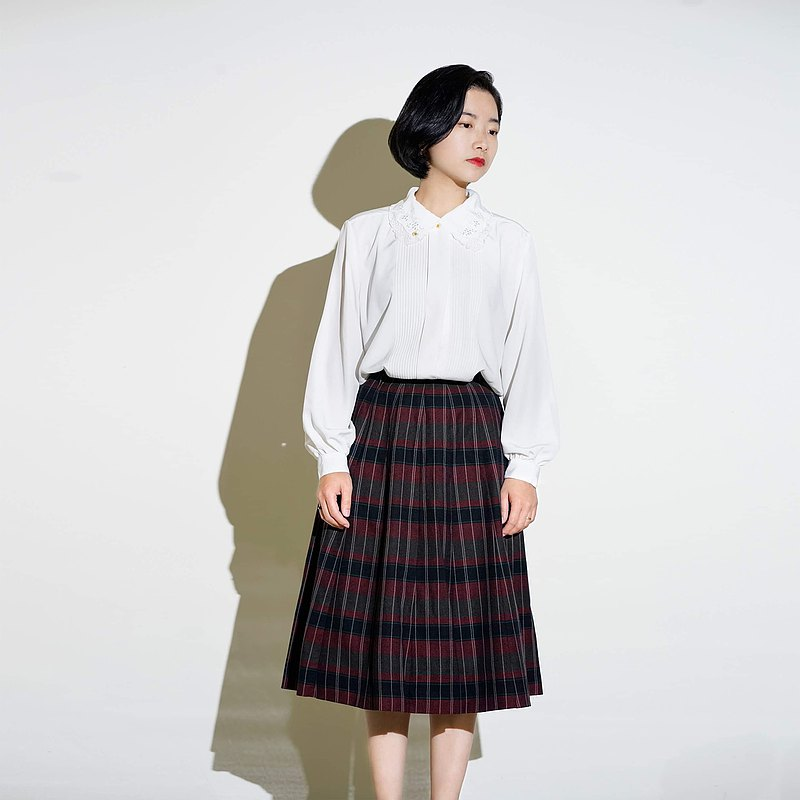 Grid/Japanese vintage dress