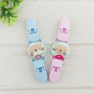 Playful cat 2 color optional. Handkerchief clip / universal clip / toy clip / double head clip
