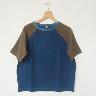 no.3 Baseball shirt L / natural dye