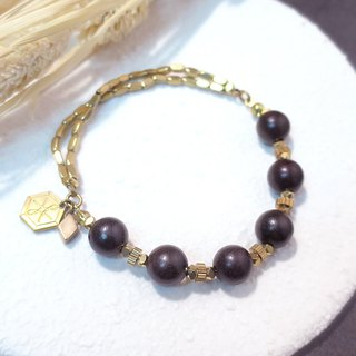 VIIART. Branches. Rosewood brass bracelet