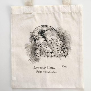 Pure hand-painted bird cotton shopping bag ‧ red dragonfly