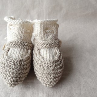 6M ~ ● Organic ● strap shoes baby bootie set 234