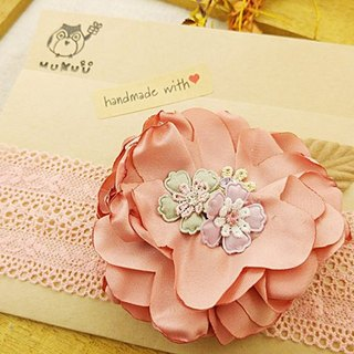 §HUKUROU§ baby baby hair band - camellia flower belt (powder)